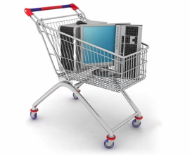 Computer Equipment in a Shopping Trolley