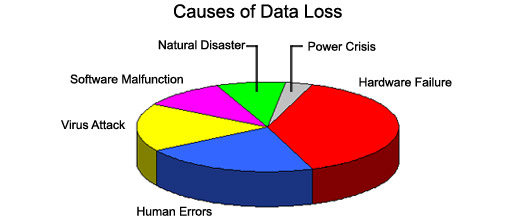 Causes of Data Loss - Pie Chart